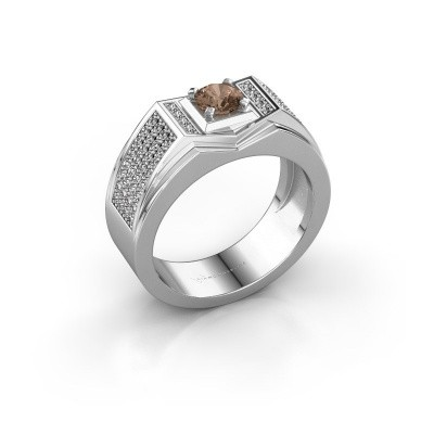 Men's ring Marcel 375 white gold brown diamond 1.04 crt
