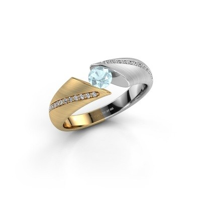 Verlovingsring Hojalien 2 585 goud aquamarijn 4.2 mm