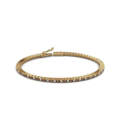 Picture of Tennis bracelet Karin 2 mm 375 gold brown diamond 2.16 crt