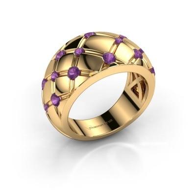 Ring Imke 375 Gold Amethyst 2.5 mm