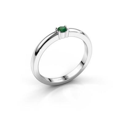 Foto van Promise ring Yasmin 1 925 zilver smaragd 2.7 mm