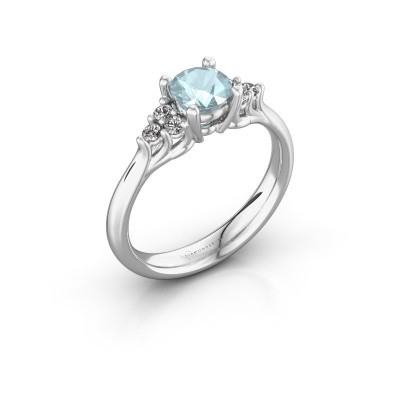 Picture of Engagement ring Monika RND 925 silver aquamarine 5.5 mm