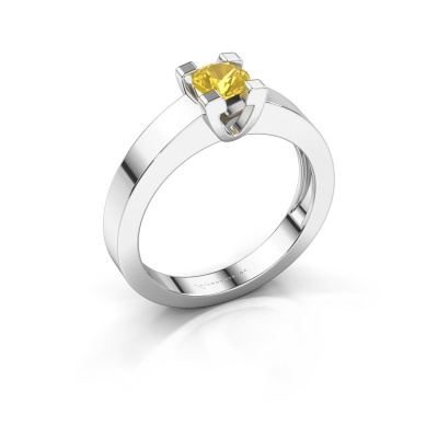 Promise ring Anne 1 925 zilver gele saffier 4.7 mm