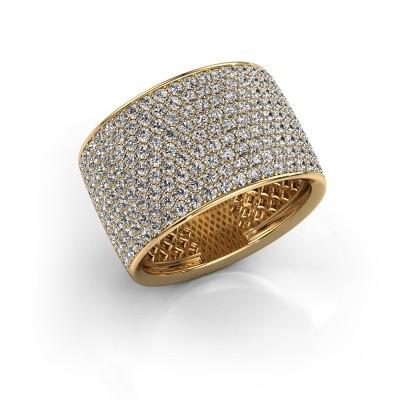Foto van Ring Macy 375 goud zirkonia 1.4 mm