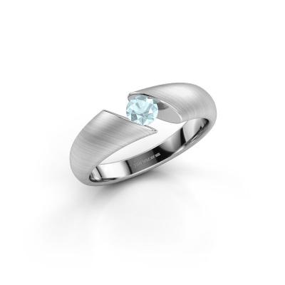 Picture of Engagement ring Hojalien 1 950 platinum aquamarine 4 mm
