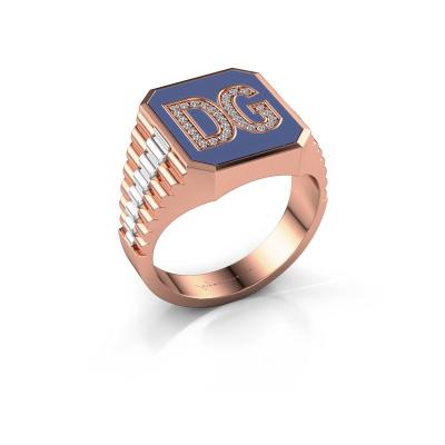 Foto van Zegelring Stephan 2 585 rosé goud lab-grown diamant 0.124 crt