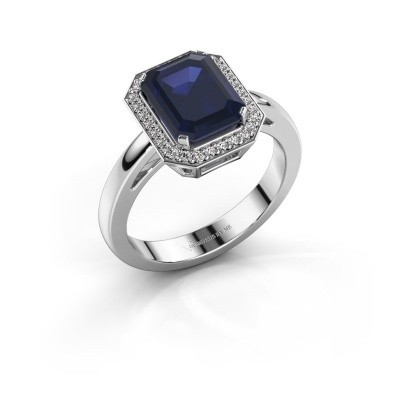 Picture of Engagement ring Dodie 1 585 white gold sapphire 9x7 mm