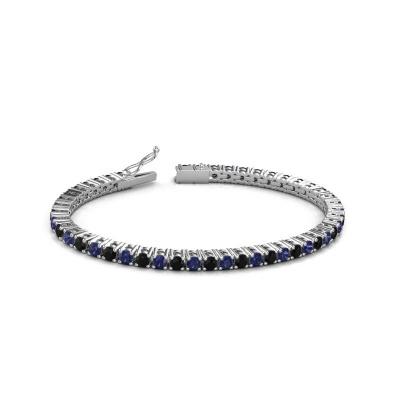 Foto van Tennisarmband Karin 3.5 mm 585 witgoud zwarte diamant 5.184 crt