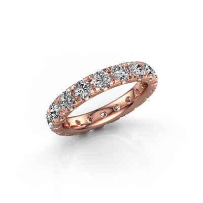 Picture of Stackable ring Jackie 3.4 375 rose gold lab-grown diamond 2.700 crt
