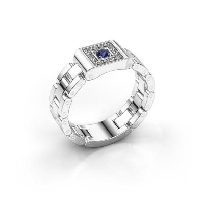Rolex stijl ring Giel 950 platina saffier 2.7 mm
