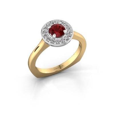 Foto van Ring Kanisha 1 585 goud robijn 5 mm