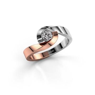 Foto van Ring Sheryl 585 rosé goud lab-grown diamant 0.25 crt