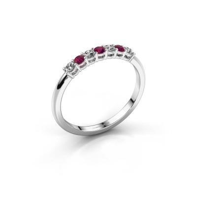 Foto van Verlovings ring Michelle 7 585 witgoud rhodoliet 2 mm
