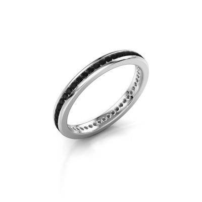 Aanschuifring Lura 1 925 zilver zwarte diamant 0.588 crt
