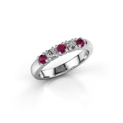 Engagement ring Rianne 5 585 white gold rhodolite 2.7 mm