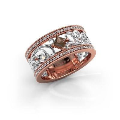 Ring Danae 585 rosé goud rookkwarts 3 mm