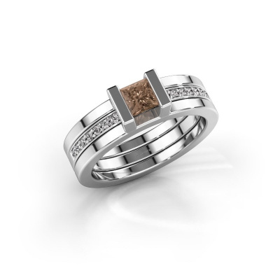 Foto van Ring Desire 585 witgoud bruine diamant 0.535 crt
