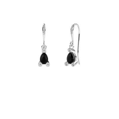 Oorhangers Bunny 2 950 platina zwarte diamant 1.635 crt