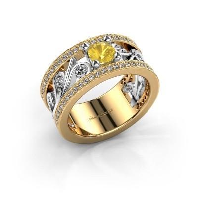 Foto van Ring Sanne 585 goud gele saffier 5 mm