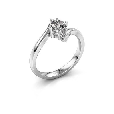 Foto van Verlovingsring Genna 925 zilver diamant 0.56 crt