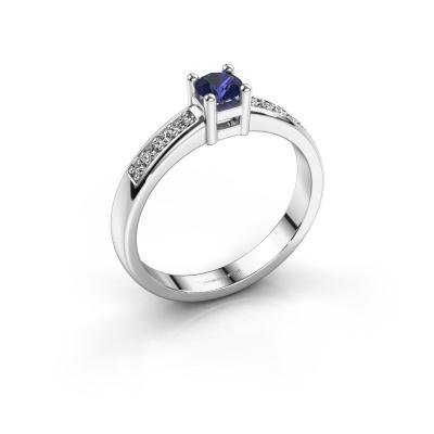 Engagement ring Eline 2 950 platinum sapphire 3.7 mm
