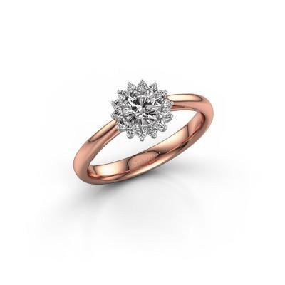 Verlovingsring Tilly RND 1 585 rosé goud diamant 0.40 crt