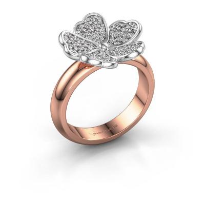 Ring Daphne 585 rose gold diamond 0.450 crt