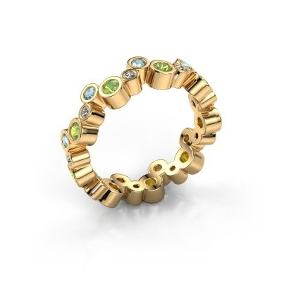Foto van Ring Tessa 585 goud peridoot 2.5 mm