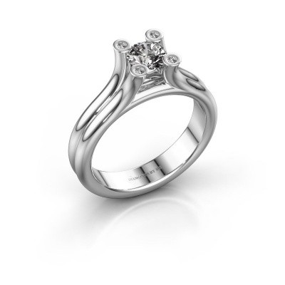 Foto van Belofte ring Stefanie 1 375 witgoud zirkonia 5 mm
