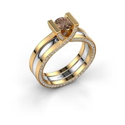 Foto van Ring Kenisha 585 goud bruine diamant 1.08 crt