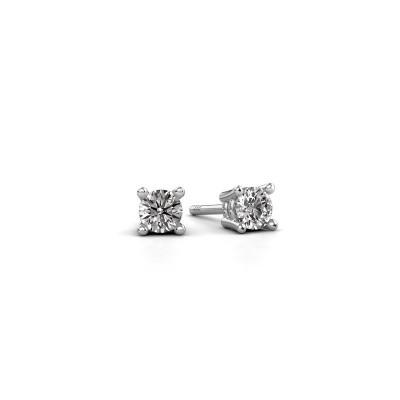 Foto van Oorstekers Jannette 950 platina diamant 0.30 crt