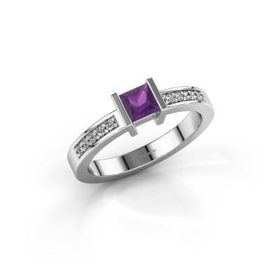 Engagement ring Jordan 925 silver amethyst 4 mm