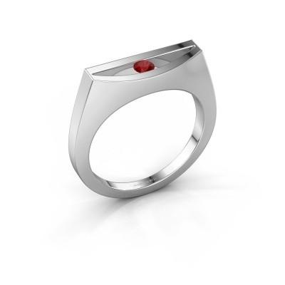 Ring Milou 950 Platin Rubin 3 mm
