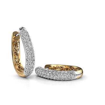 Foto van Creolen Danika 12.5 A 585 witgoud diamant 1.360 crt