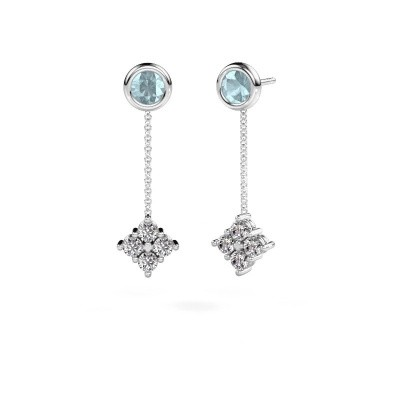 Picture of Drop earrings Ardith 585 white gold diamond 0.80 crt