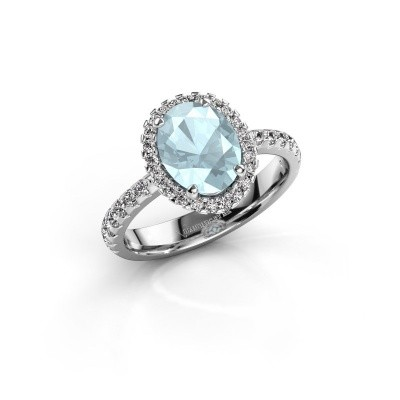 Picture of Engagement ring Lavelle 925 silver aquamarine 9x7 mm