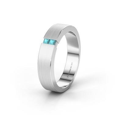 Wedding ring WH2136M15E 585 white gold blue topaz ±5x2.4 mm