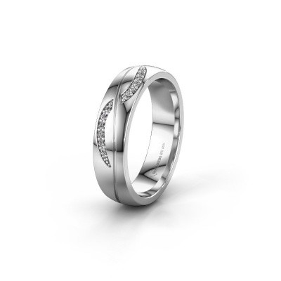 Wedding ring WH2118L25A 585 white gold zirconia ±5x1.7 mm