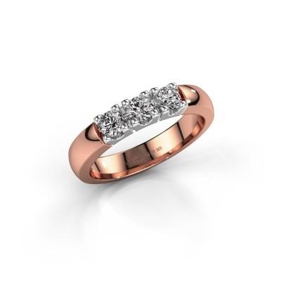 Foto van Verlovingsring Rianne 3 585 rosé goud zirkonia 3.4 mm