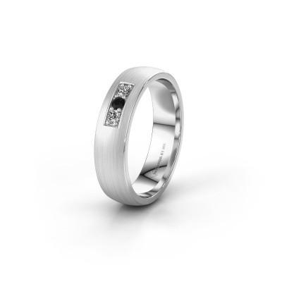 Ehering WH0110L25AM 375 Weißgold Schwarz Diamant ±5x1.7 mm