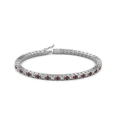 Tennis bracelet Petra 585 white gold garnet 3 mm