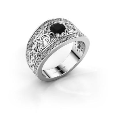 Foto van Ring Marilee 925 zilver zwarte diamant 1.056 crt