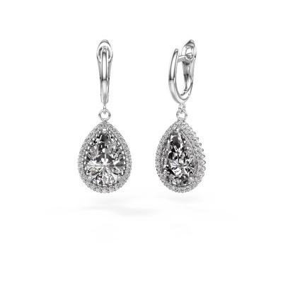 Drop earrings Hana 1 950 platinum diamond 6.42 crt