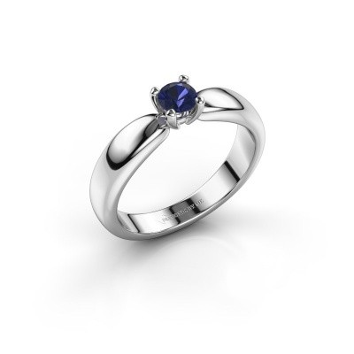 Promise ring Katrijn 950 platina saffier 4.2 mm