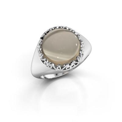 Ring Birgit 925 zilver rookkwarts 12 mm