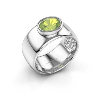 Ring Anouschka 925 zilver peridoot 8x6 mm