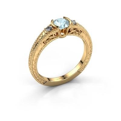 Foto van Verlovingsring Anamaria 375 goud aquamarijn 5 mm