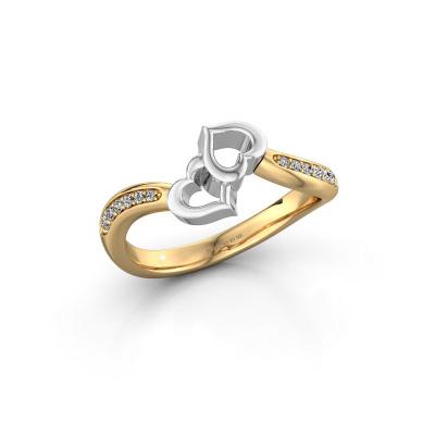 Picture of Ring Xaviera 585 gold diamond 0.112 crt