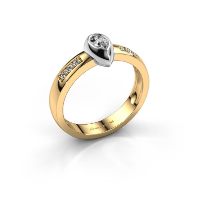 Ring Charlotte Pear 585 gold diamond 0.25 crt
