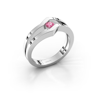 Ring Elize 585 white gold pink sapphire 3.4 mm